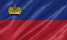Drapeau de la Liechtenstein photographie stock libre de droits