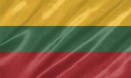 Drapeau de la Lithuanie image libre de droits