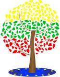 Drapeau de la Lithuanie et de l'Union européenne Illustration du drapeau lithuanien illustration de vecteur
