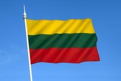 Drapeau de la Lithuanie - pays Baltes Image libre de droits