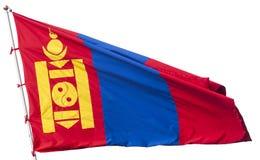 Drapeau de la Mongolie Photographie stock