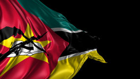 Drapeau de la Mozambique banque de vidéos