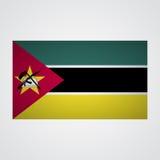 Drapeau de la Mozambique sur un fond gris Illustration de vecteur Photo stock