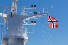 Drapeau de la Norvège Photographie stock libre de droits