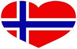 Drapeau de la Norvège - pays de la péninsule scandinave en Europe illustration de vecteur