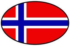 Drapeau de la Norvège - pays de la péninsule scandinave en Europe illustration libre de droits