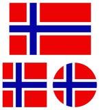 Drapeau de la Norvège - pays de la péninsule scandinave en Europe illustration stock