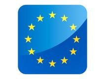 drapeau de la place 3D d'UE illustration stock