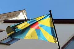 Drapeau de la Province de Flandre-Occidentale Images libres de droits