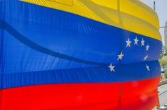 Drapeau de la République de Bolivarian du Venezuela avec ses huit étoiles images libres de droits