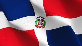 Drapeau de la République Dominicaine ondulant sur le vent illustration libre de droits