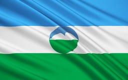 Drapeau de la République de la Kabardino-Balkarie, Fédération de Russie illustration libre de droits