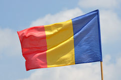 Drapeau de la Roumanie Images stock