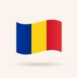 Drapeau de la Roumanie Image libre de droits