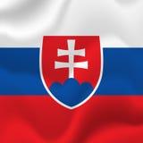 Drapeau de la Slovaquie Vecteur Image stock