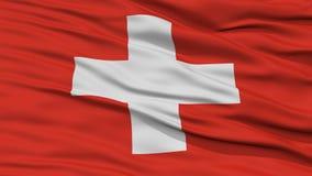 Drapeau de la Suisse de plan rapproché Image libre de droits