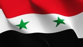 Drapeau de la Syrie ondulant sur le vent illustration de vecteur