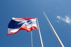 Drapeau de la Thaïlande ondulant sur le vent Photographie stock libre de droits