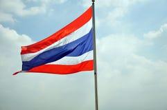 Drapeau de la Thaïlande soufflant en vent photographie stock libre de droits