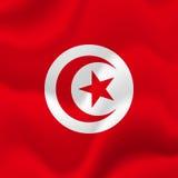 Drapeau de la Tunisie Vecteur Photos stock