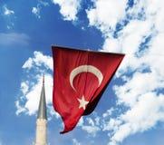 Drapeau de la Turquie Images stock