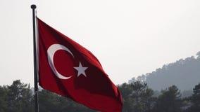 Drapeau de la Turquie une alerte comportant une étoile blanche banque de vidéos