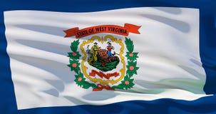 Drapeau de la Virginie Occidentale ondulant, Etats-Unis d'Am?rique 3d illustration de haute qualit? parfaite pour le film, nouvel illustration de vecteur