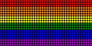 Drapeau de LGBT avec l'effet de sphères Photo stock
