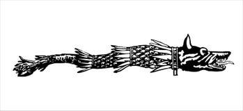 drapeau de loup de dacia illustration de vecteur