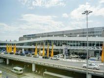 Drapeau de Lufthansa de voyage international d'aéroport de Francfort Image libre de droits