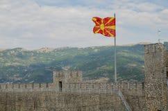 Drapeau de Macédoine images stock