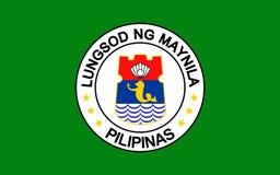 Drapeau de Manille, Philippines illustration libre de droits