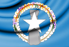 Drapeau de Mariana Islands du nord illustration libre de droits