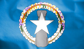 Drapeau de Mariana Islands du nord illustration de vecteur
