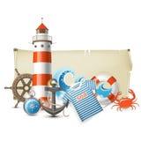Drapeau de mer illustration libre de droits