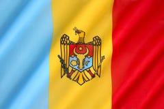 Drapeau de Moldau - la Moldavie Images libres de droits