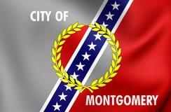 Drapeau de Montgomery City Alabama, Etats-Unis Photographie stock libre de droits
