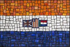 Drapeau de mosaïque de l'Afrique du Sud Image stock