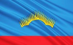 Drapeau de Mourmansk Oblast, Fédération de Russie illustration stock
