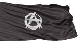 Drapeau de mouvement d'anarchiste, d'isolement sur le blanc Illustration Libre de Droits