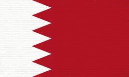 Drapeau de mur du Bahrain Images libres de droits
