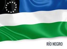 Drapeau de nègre argentin de RÃo d'état illustration libre de droits