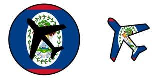 Drapeau de nation - avion d'isolement - Belize illustration libre de droits