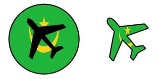 Drapeau de nation - avion d'isolement - la Mauritanie illustration libre de droits