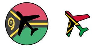 Drapeau de nation - avion d'isolement - le Vanuatu illustration libre de droits