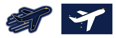 Drapeau de nation - avion - l'Alaska Images stock