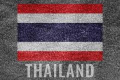 Drapeau de nation de la THAÏLANDE sur la conception de texture de treillis Images stock