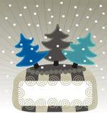 Drapeau de neige Images libres de droits
