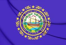 Drapeau de New Hampshire, Etats-Unis Photos stock