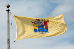 Drapeau de New Jersey, Trenton, NJ, Etats-Unis Images stock